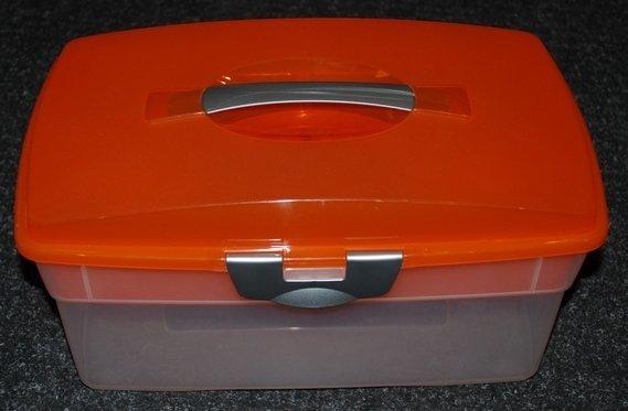 Пластиковый ящик со вставкой - большего размера